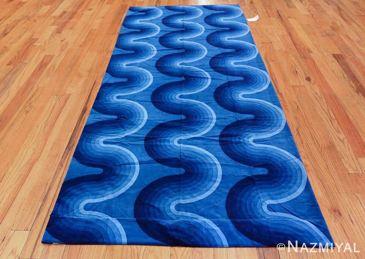 Vintage Kurve Verner Panton Textile in Blue 47720 Whole Design Nazmiyal