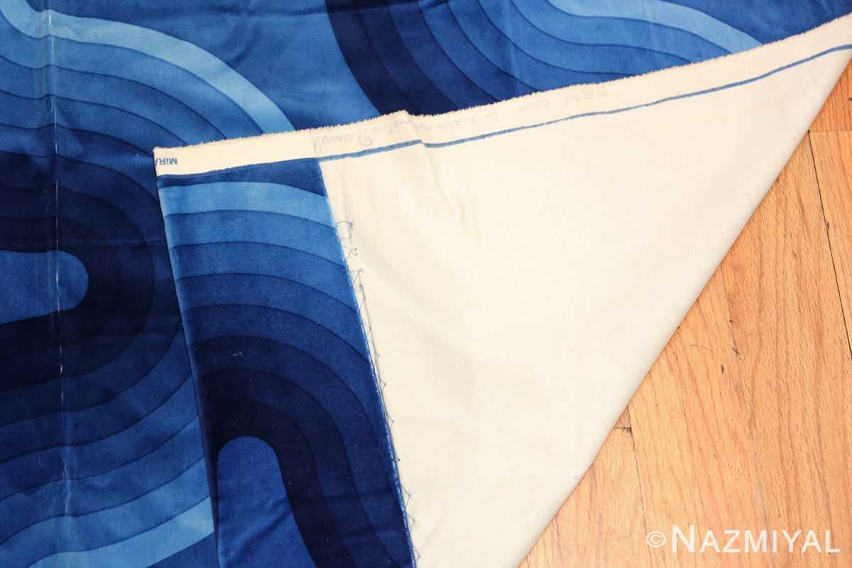 Vintage Kurve Verner Panton Textile in Blue 47720 Woven Knots Nazmiyal