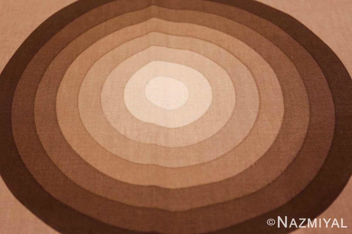 vintage tan kreis spectrum verner panton textile 47795 brown Nazmiyal