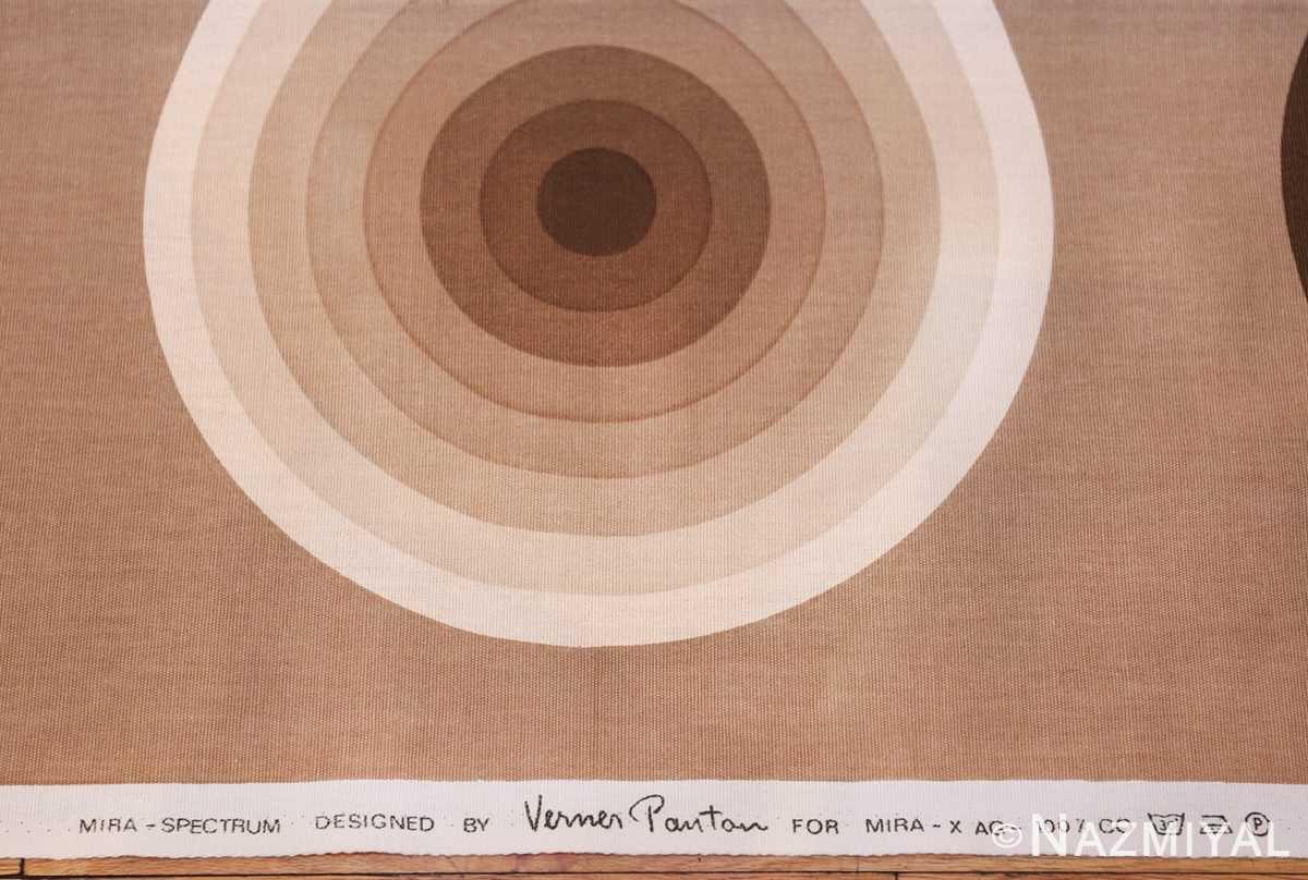 vintage tan kreis spectrum verner panton textile 47795 signature Nazmiyal