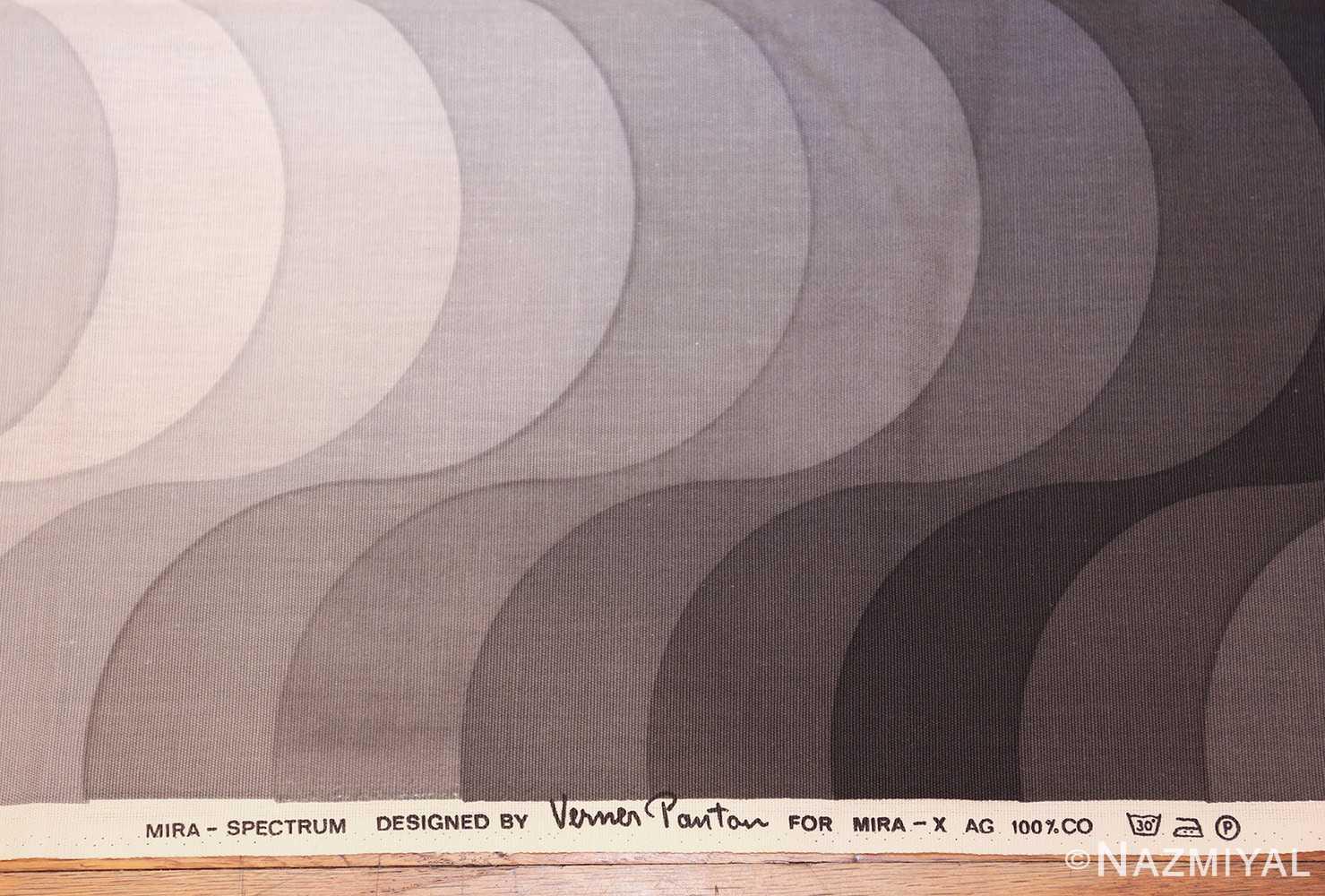 vintage welle wave verner panton textile 47808 signature Nazmiyal