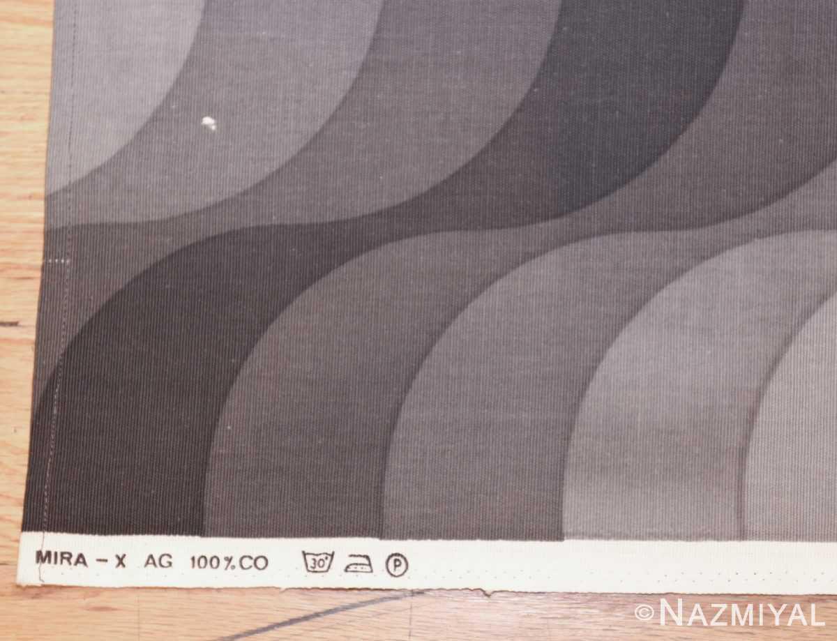 vintage welle wave verner panton textile 47808 tag Nazmiyal