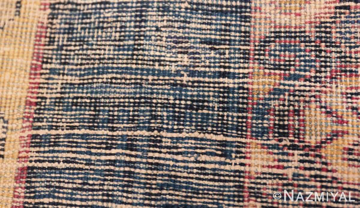 Weave detail Antique Khotan runner rug from east Turkestan 48427 by Nazmiyal
