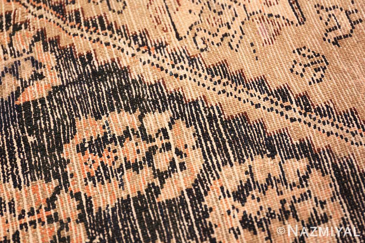 Weave detail Antique Persian Malayer runner rug 50153 by Nazmiyal