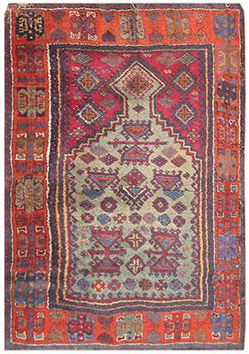 Antique Tribal Turkish Rug 2794