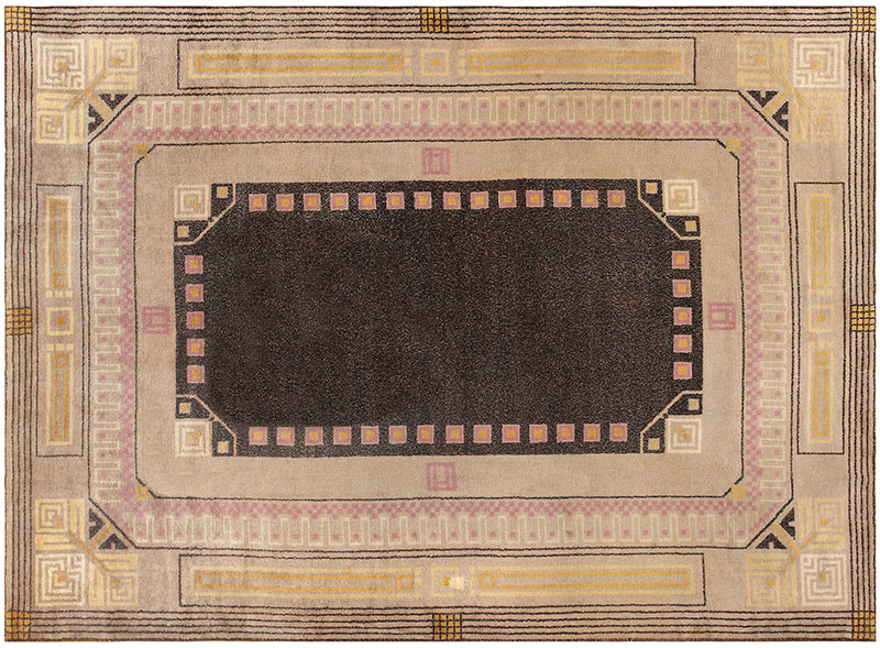Art Deco Carpet by Josef Hoffmann 48433 at Nazmiyal