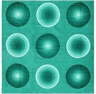 """Vintage """"Kreis"""" Verner Panton Textile in Green 47728"""