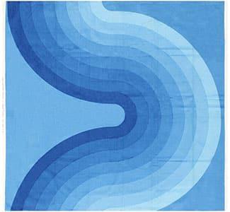 """Vintage Blue """"Kurve"""" Verner Panton Textile 47716"""