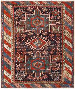 Antique Karajeh Persian Carpet 48463 Nazmiyal