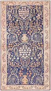 Blue Floral Antique Persian Afshar Rug 50042 by Nazmiyal