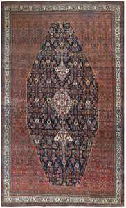 Antique Persian Bibikibad Carpet 50121 Nazmiyal