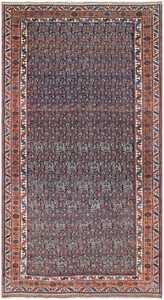 Blue Tribal Antique Persian Malayer Rug 50186 by nazmiyal