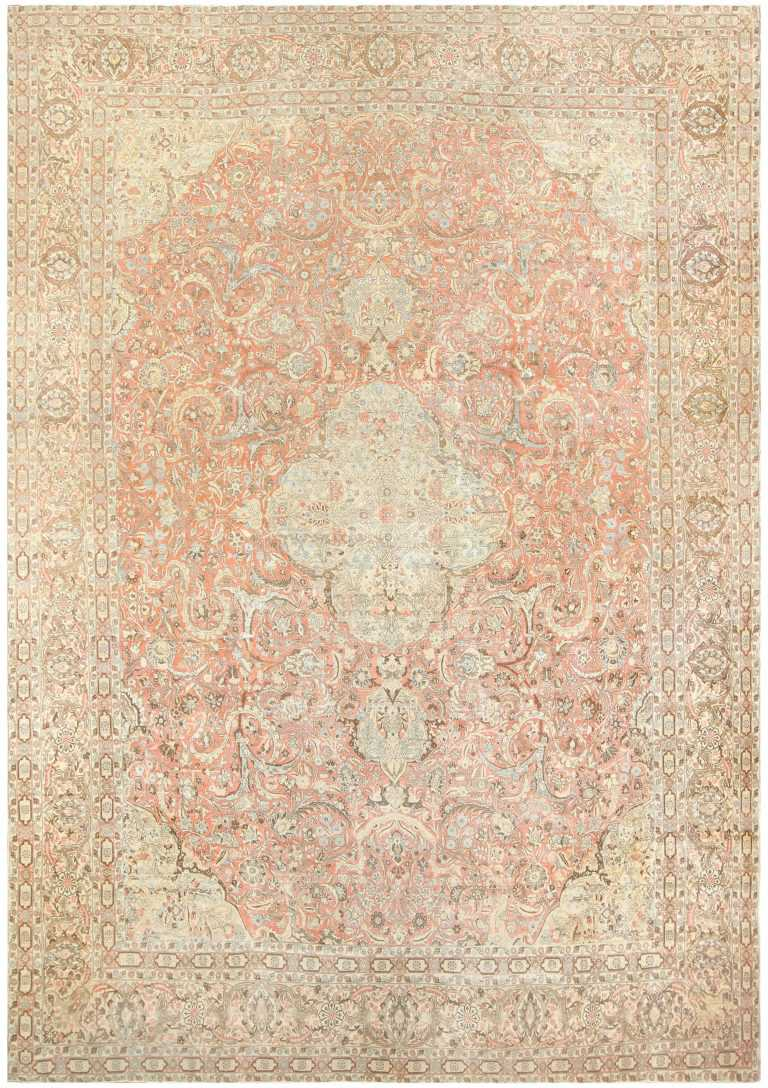 Antique Persian Tabriz Carpet 50111 Nazmiyal