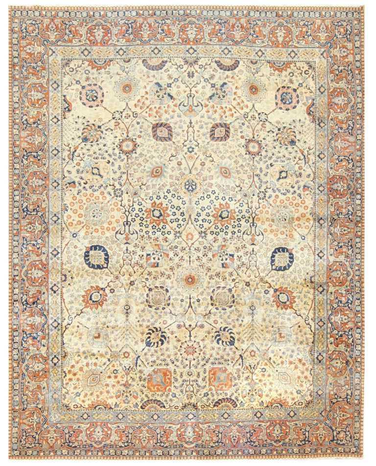 Antique Persian Tabriz Rug 50176 Detail/Large View