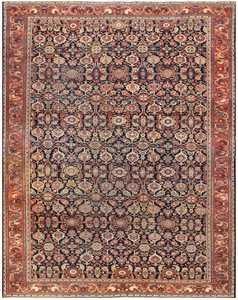 Antique Room Sized Persian Farahan Carpet 50149 Nazmiyal