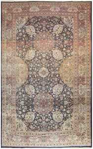 Antique Tehran Persian Carpet 50123 Nazmiyal