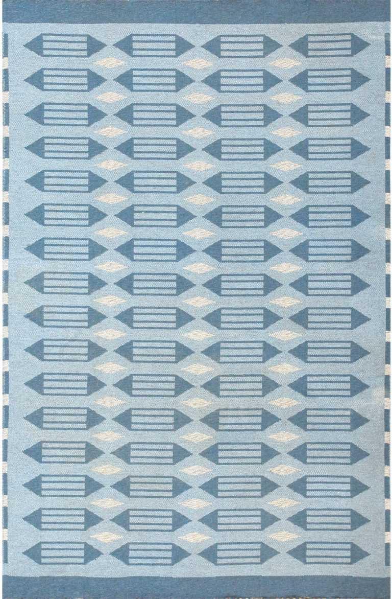 double sided vintage swedish carpet 48449 Nazmiyal