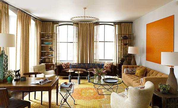 Interior Design With Antique Oushak Turkish Rugs by nazmiyal
