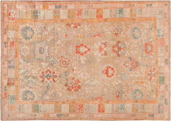 Antique Angora Oushak Turkish Rugs Nazmiyal