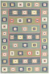 Vintage Swedish Kilim by Marta Maas Fjetterstrom 48443 Detail/Large View