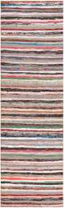 Vintage Swedish Rag Rug 46657 Detail/Large View