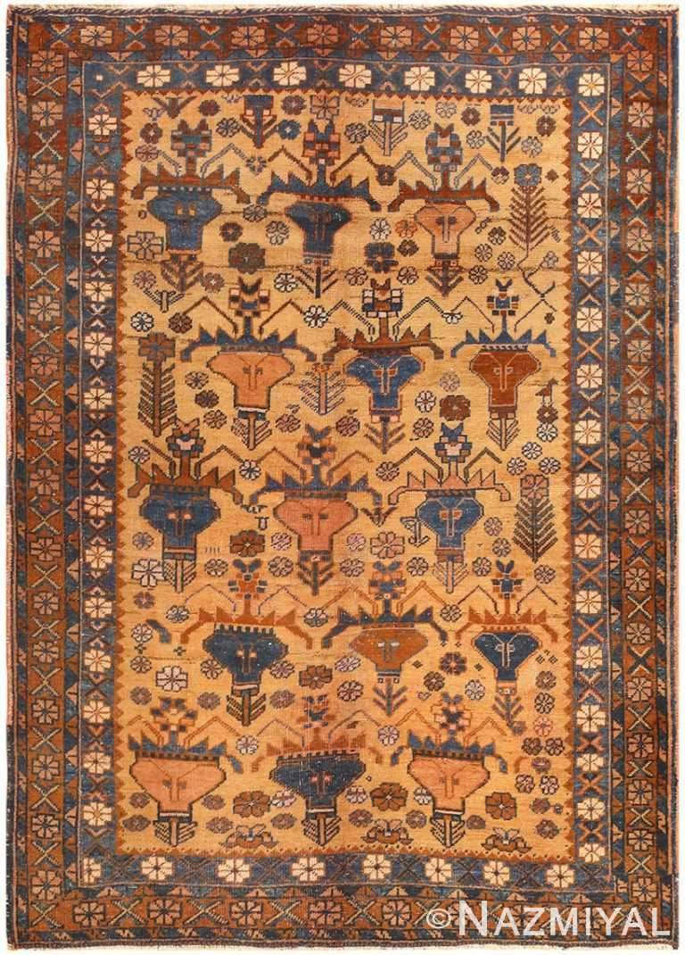 Antique Persian Afshar Rug by Nazmiyal