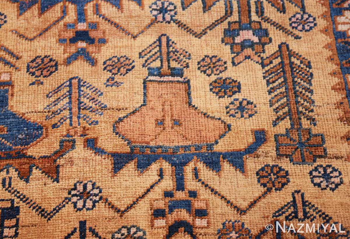 antique afshar persian rug 50045 vase Nazmiyal