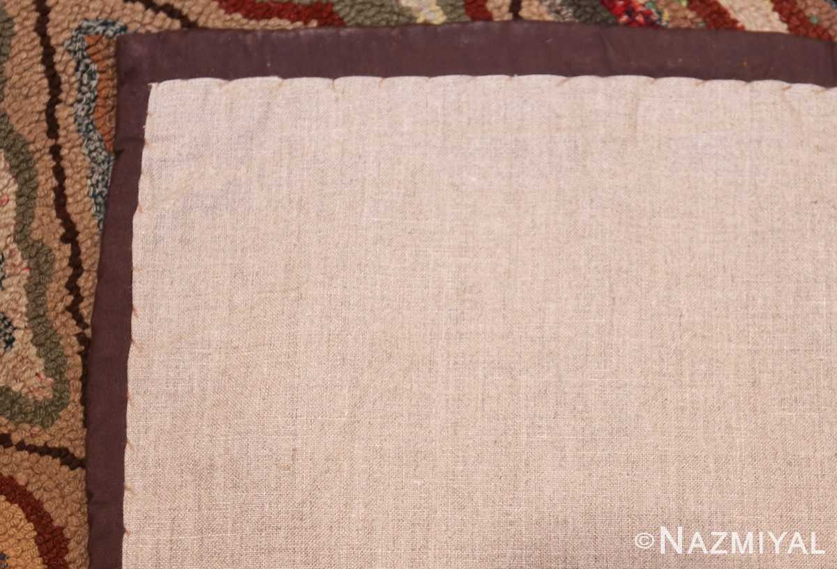 antique american hooked rug 50108 back Nazmiyal