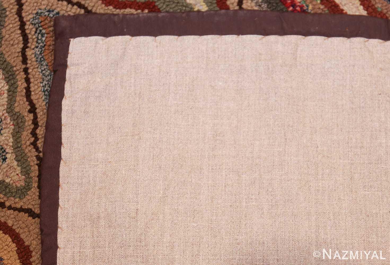 antique american hooked rug 50108 back Nazmiyal