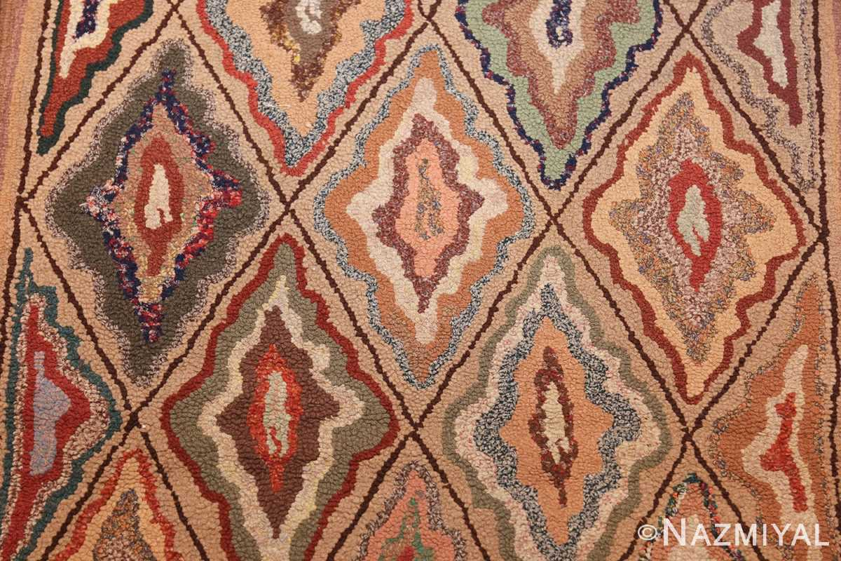 antique american hooked rug 50108 design Nazmiyal