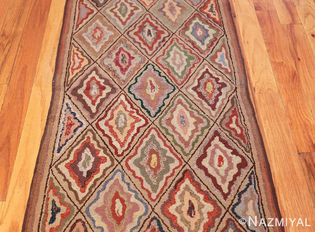 antique american hooked rug 50108 field Nazmiyal