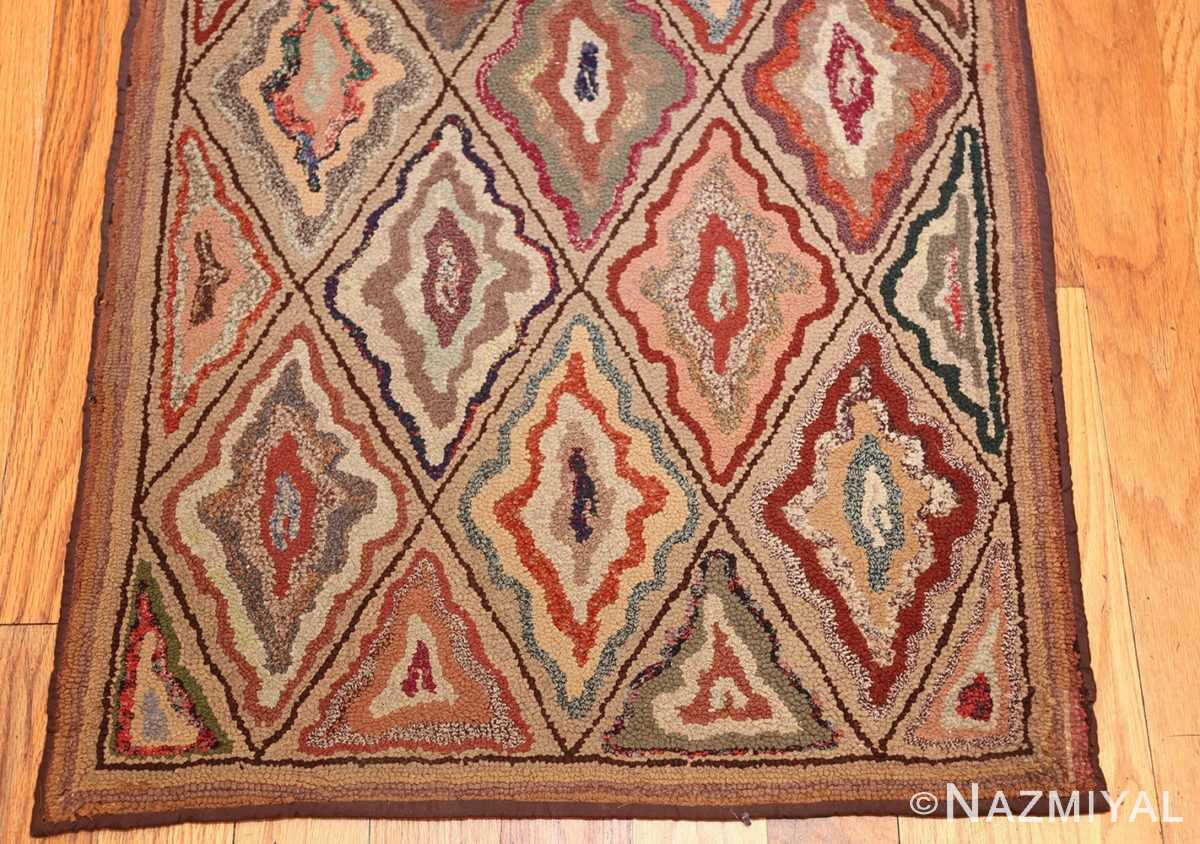 antique american hooked rug 50108 top Nazmiyal