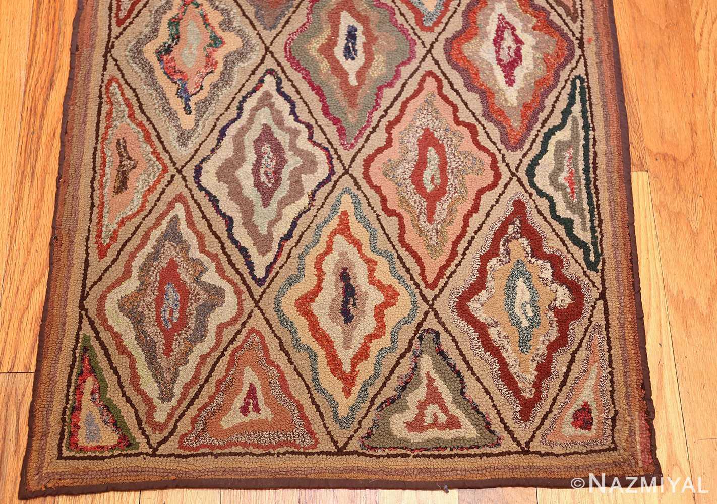antique american hooked rug 50108 top Nazmiyal