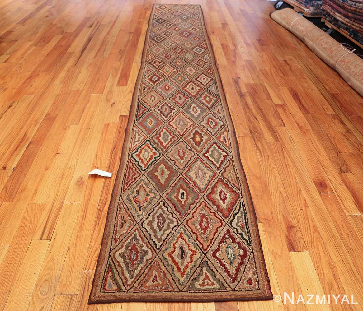 antique american hooked rug 50108 whole Nazmiyal