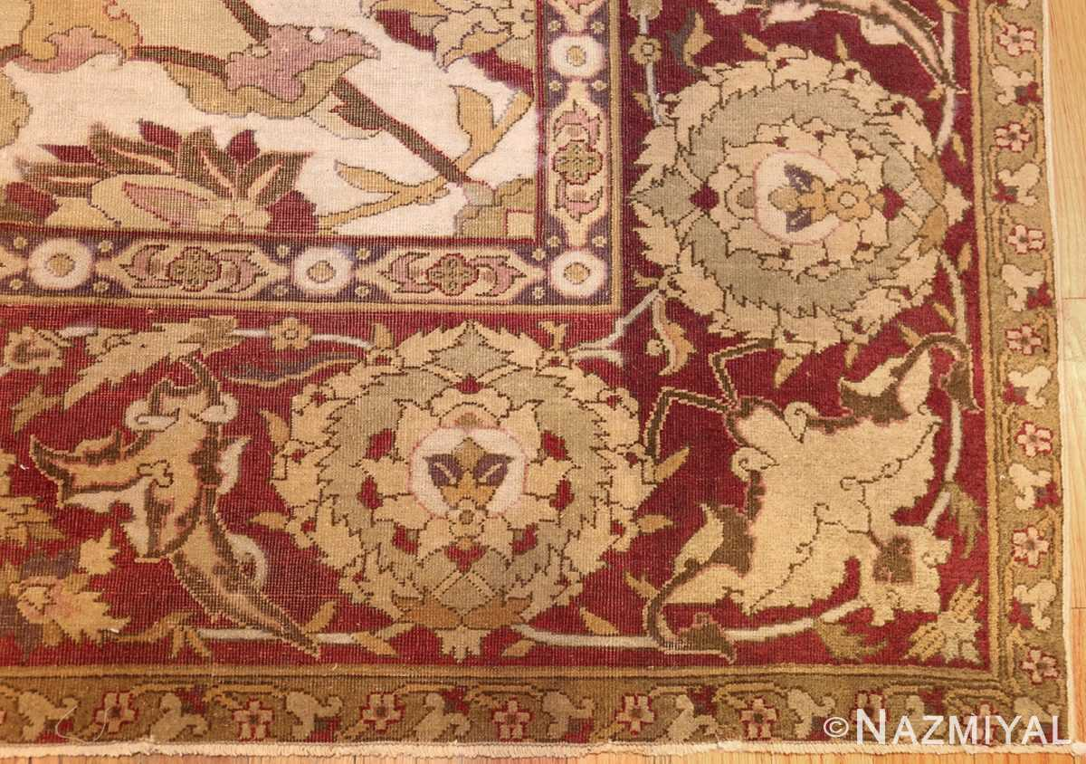 antique amritsar indian carpet 50201 corner Nazmiyal