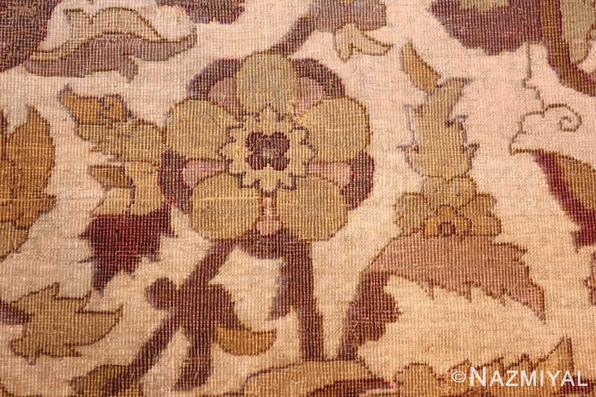 antique amritsar indian carpet 50201 detailed Nazmiyal