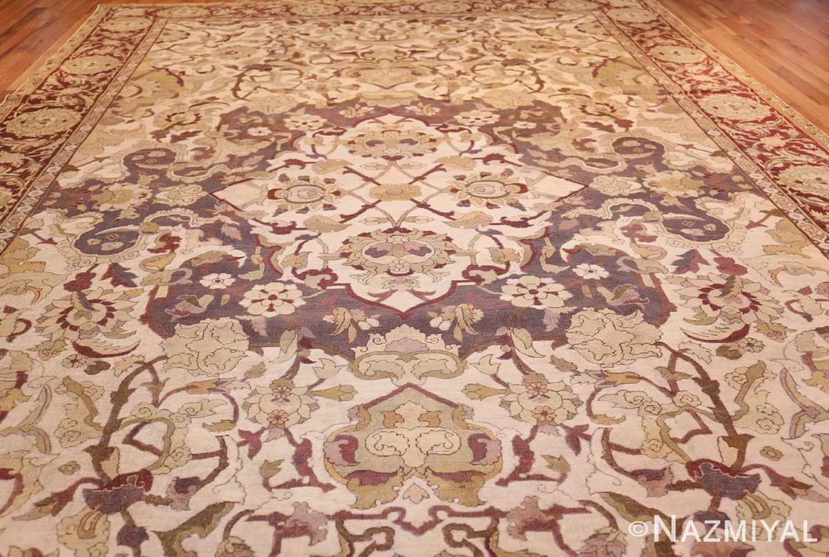 antique amritsar indian carpet 50201 field Nazmiyal