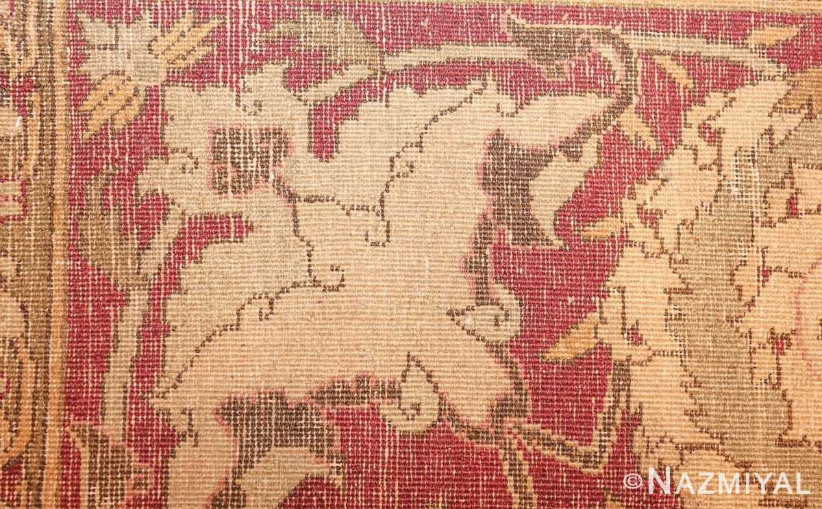 antique amritsar indian carpet 50201 weave Nazmiyal