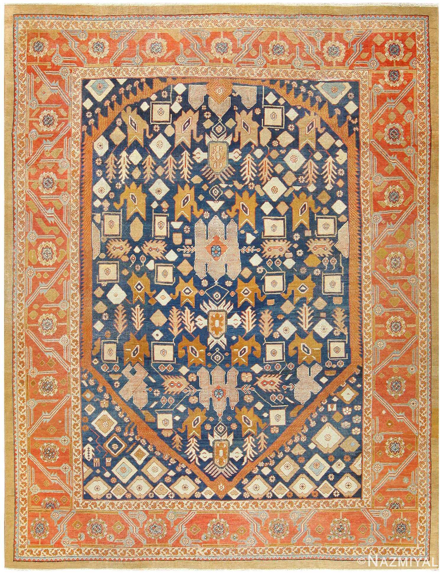 Antique Bakshaish Persian Carpet 47610 Nazmiyal