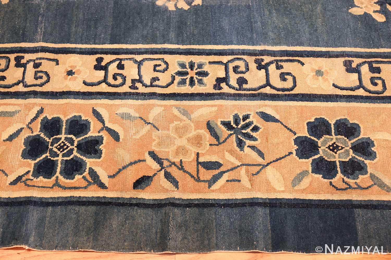 antique blue chinese rug 50148 border Nazmiyal
