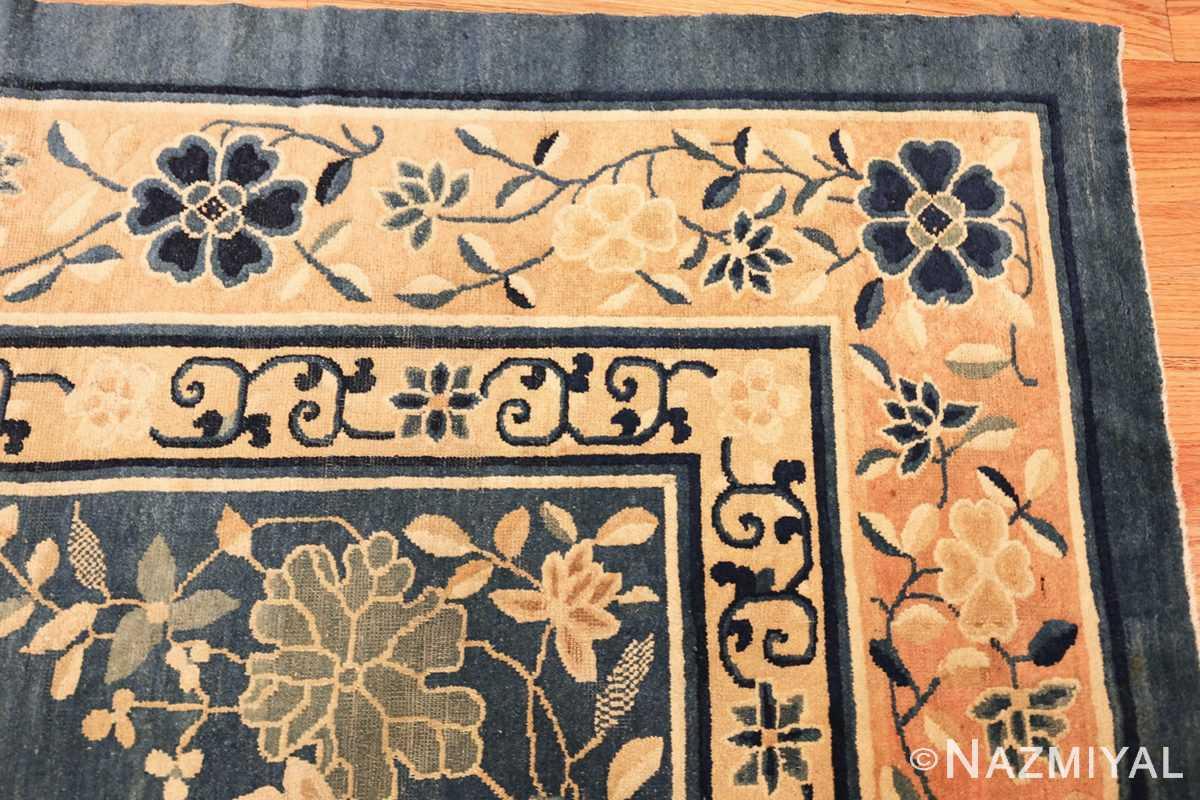 antique blue chinese rug 50148 corner Nazmiyal