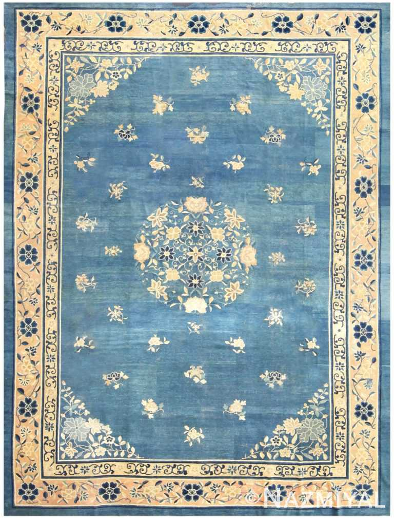 Antique Blue Chinese Rug 50148 Detail/Large View
