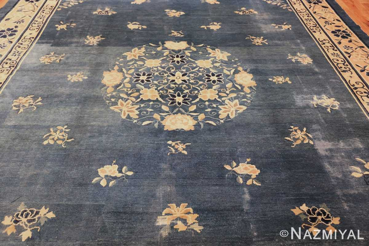 antique blue chinese rug 50148 field Nazmiyal