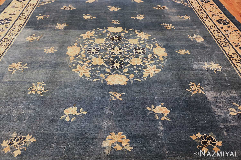 antique blue chinese rug 50148 field Nazmiyal