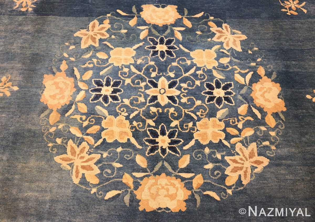 antique blue chinese rug 50148 medallion Nazmiyal