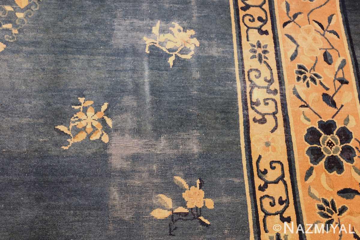 antique blue chinese rug 50148 shabby Nazmiyal