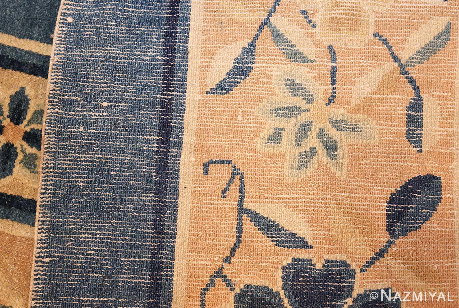 antique blue chinese rug 50148 weave Nazmiyal