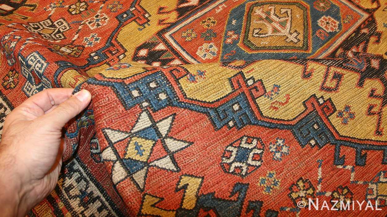 antique caucasian soumak rug 48470 pile Nazmiyal