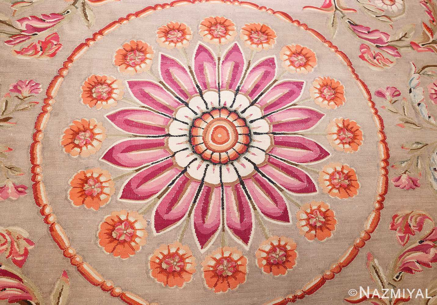 antique charles the x french aubusson rug 50171 center Nazmiyal