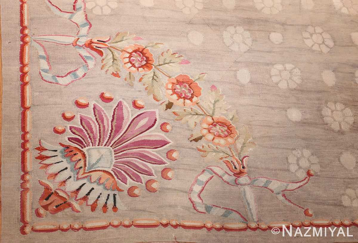 antique charles the x french aubusson rug 50171 corner Nazmiyal